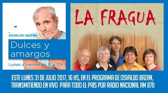Nota de Osvaldo Bazán en Radio Nacional